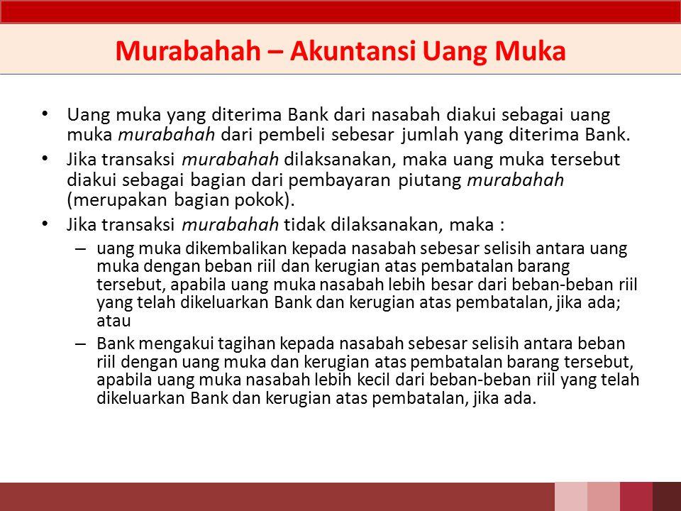 Murabahah – Akuntansi Uang Muka