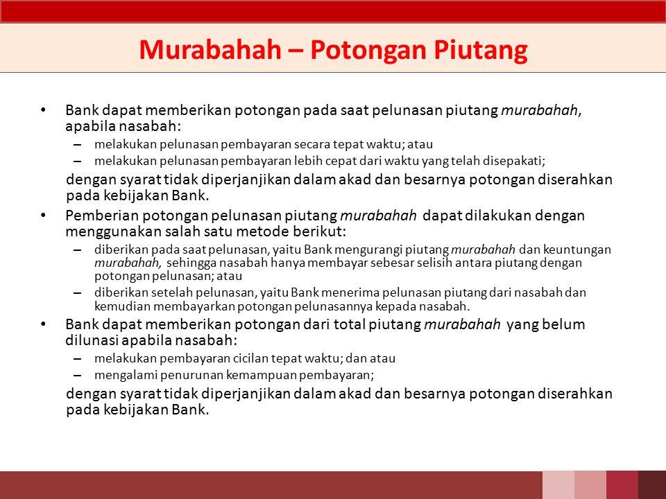 Murabahah – Potongan Piutang