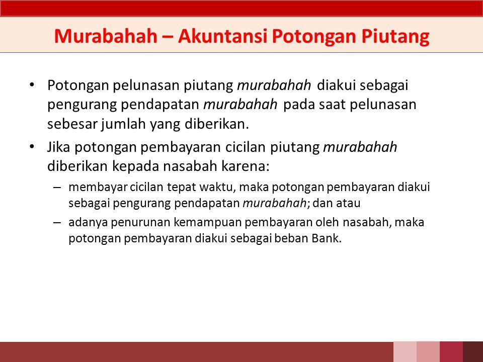 Murabahah – Akuntansi Potongan Piutang