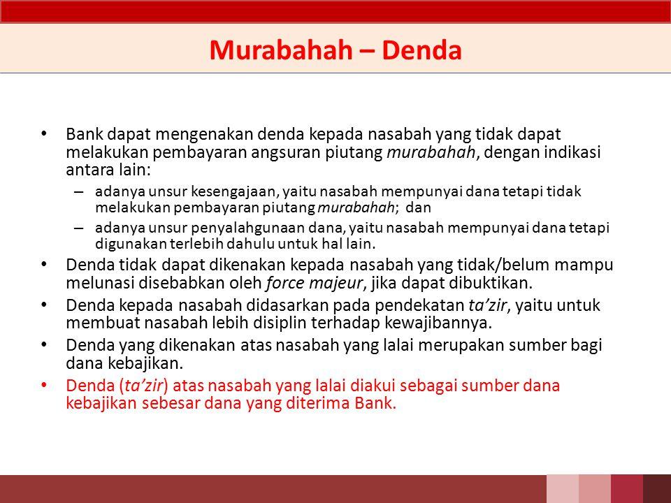 Murabahah – Denda