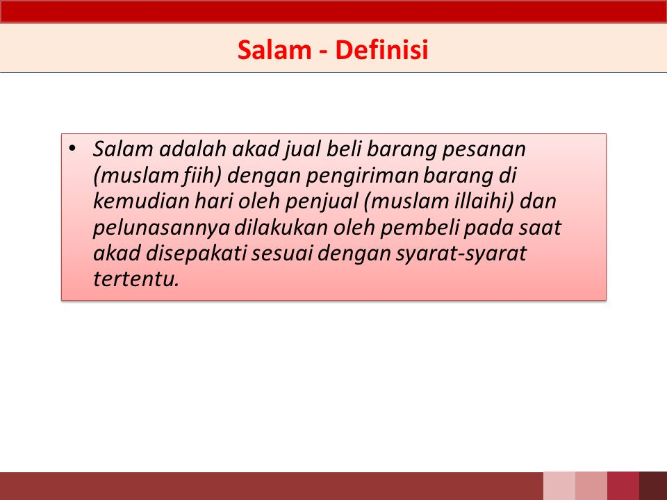 Salam - Definisi