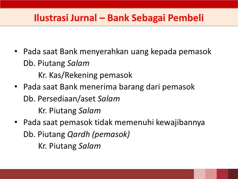 Ilustrasi Jurnal – Bank Sebagai Pembeli