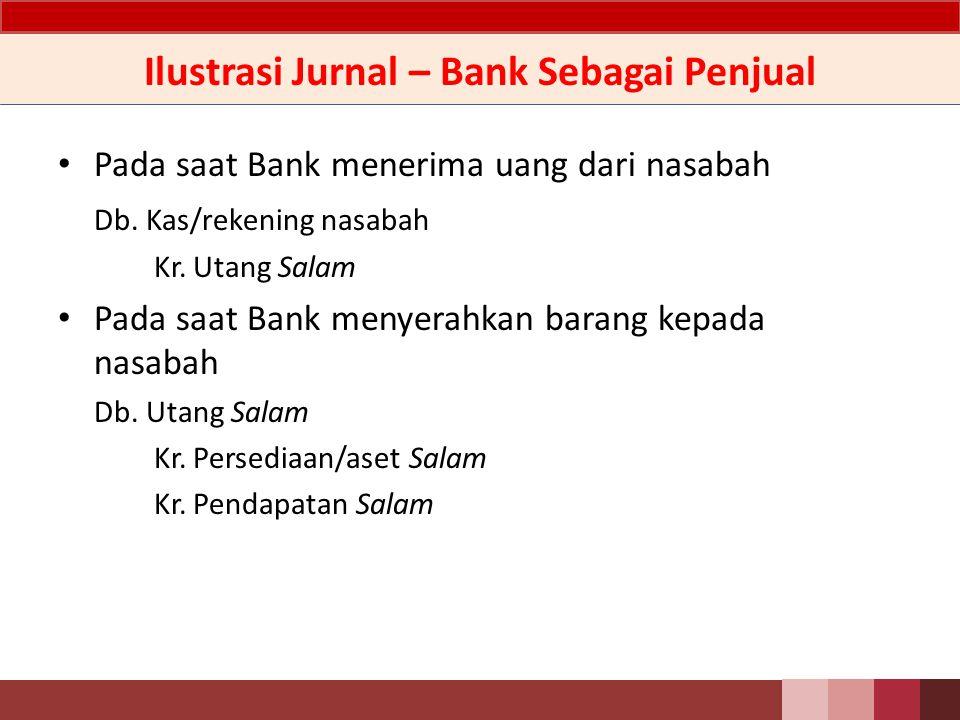 Ilustrasi Jurnal – Bank Sebagai Penjual