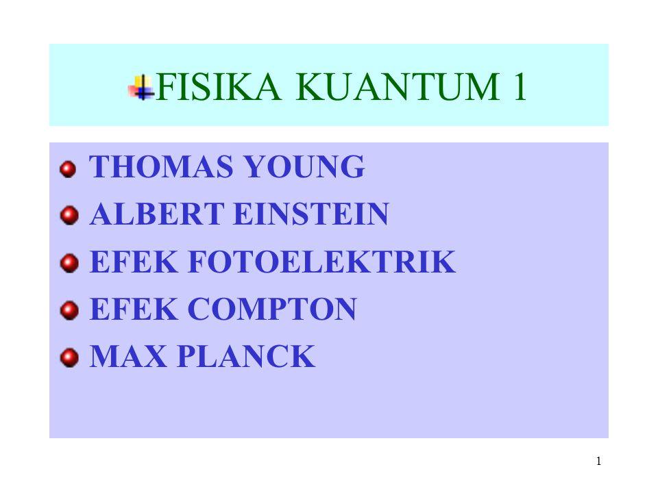FISIKA KUANTUM 1 ALBERT EINSTEIN EFEK FOTOELEKTRIK EFEK COMPTON