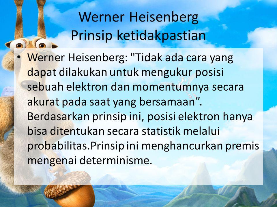 Werner Heisenberg Prinsip ketidakpastian