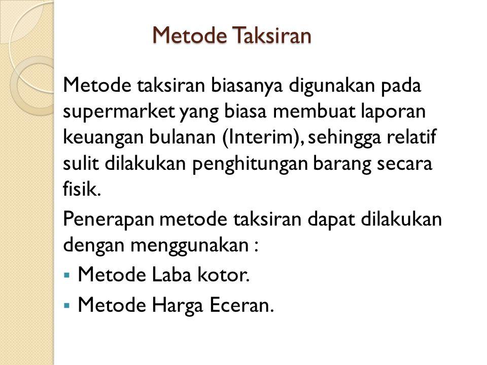 Metode Taksiran