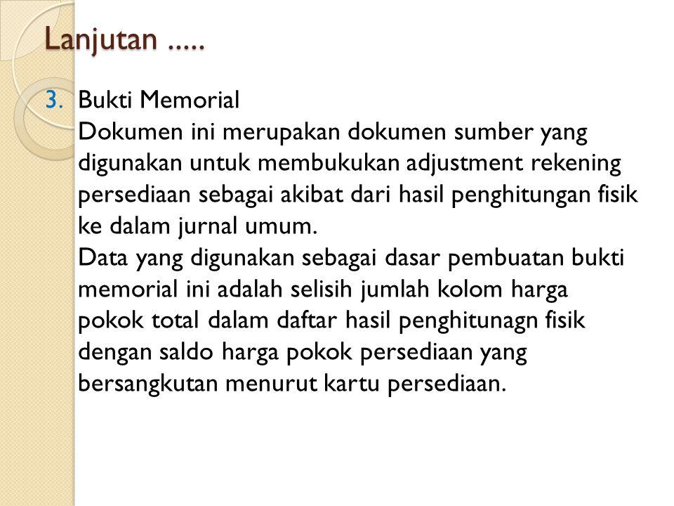 Lanjutan ..... Bukti Memorial