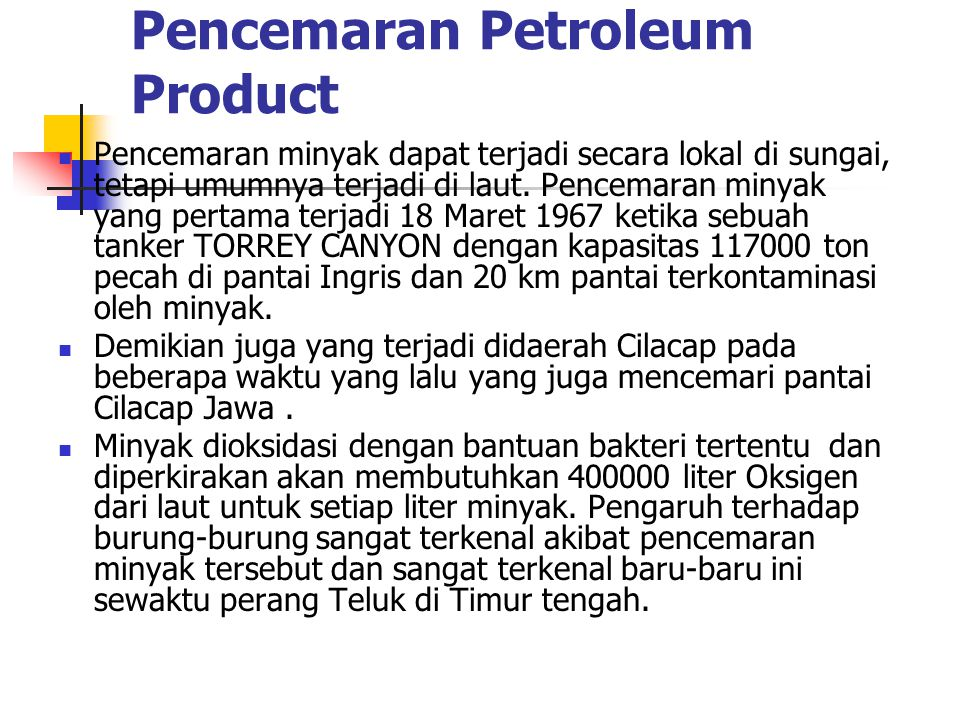 Pencemaran Petroleum Product