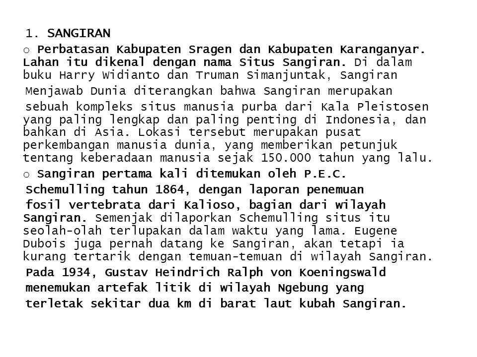 1. SANGIRAN