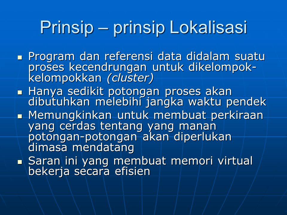 Prinsip – prinsip Lokalisasi