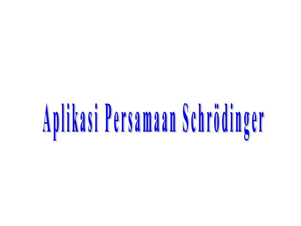 Aplikasi Persamaan Schrödinger