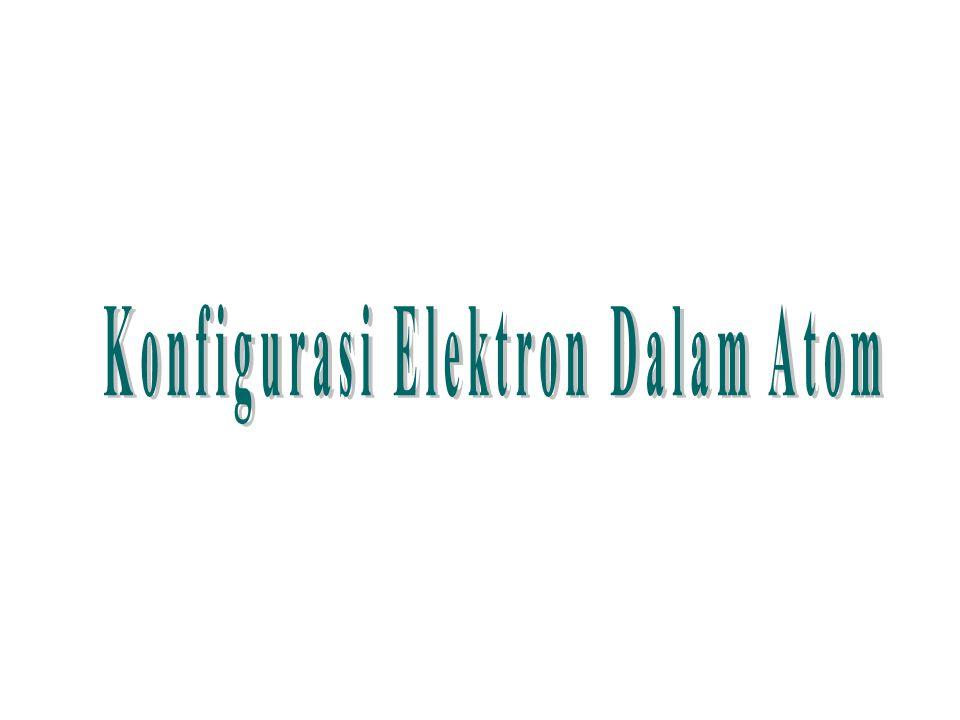 Konfigurasi Elektron Dalam Atom