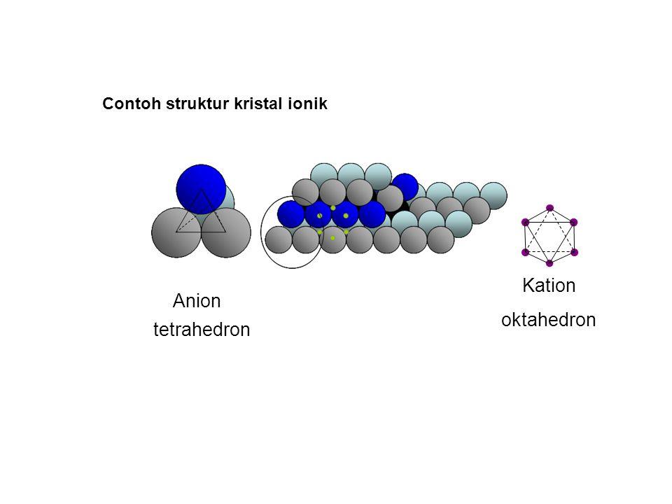 Contoh struktur kristal ionik