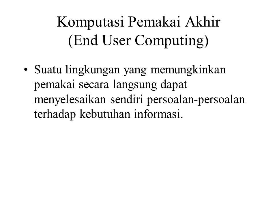 Komputasi Pemakai Akhir (End User Computing)