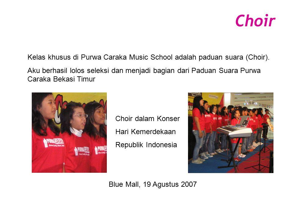 Choir Kelas khusus di Purwa Caraka Music School adalah paduan suara (Choir).