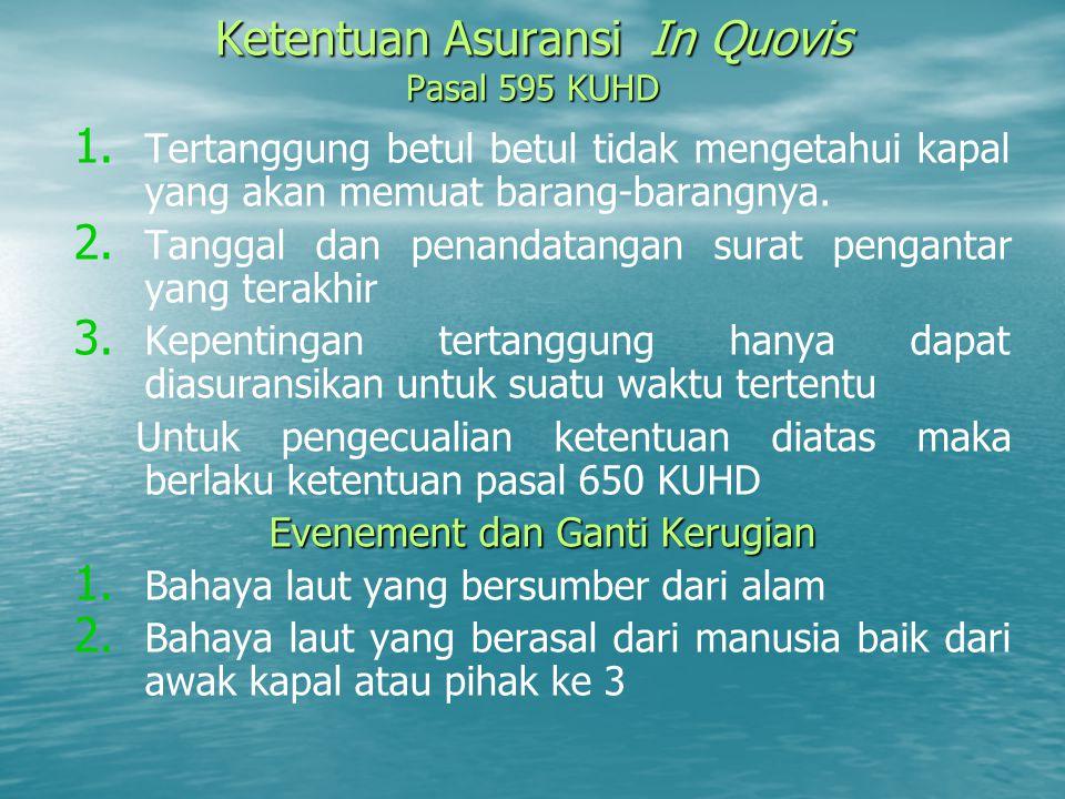 Ketentuan Asuransi In Quovis Pasal 595 KUHD