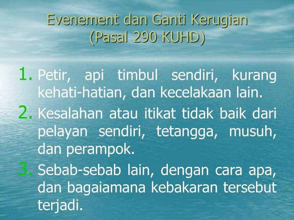 Evenement dan Ganti Kerugian (Pasal 290 KUHD)