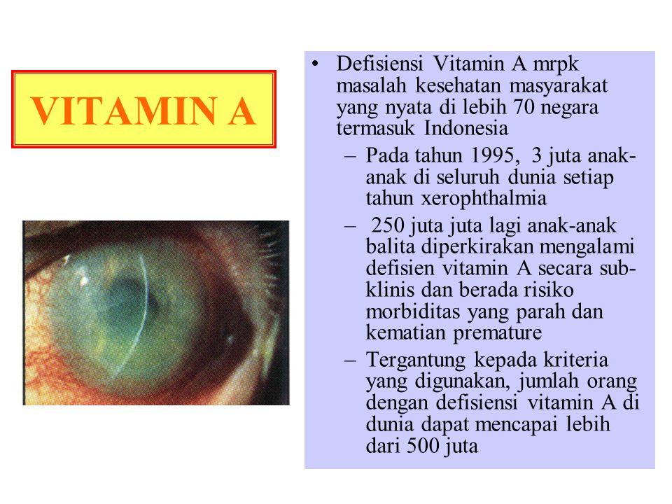Defisiensi Vitamin A mrpk masalah kesehatan masyarakat yang nyata di lebih 70 negara termasuk Indonesia