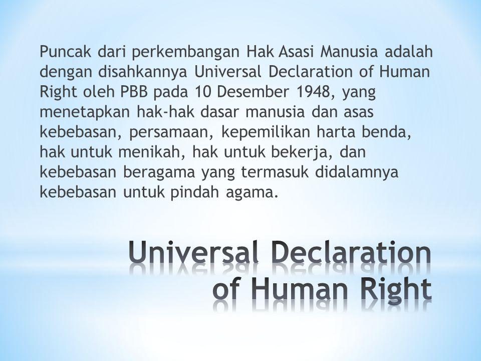 Universal Declaration of Human Right