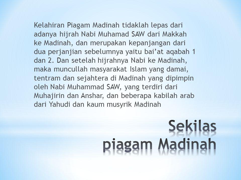 Sekilas piagam Madinah
