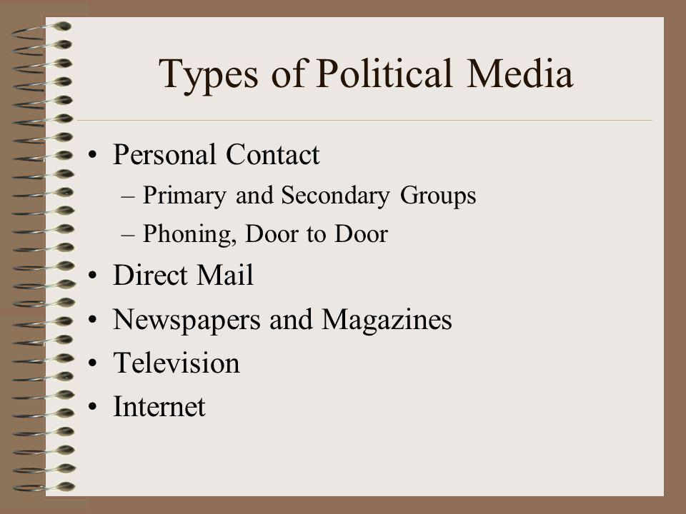 Types of Political Media