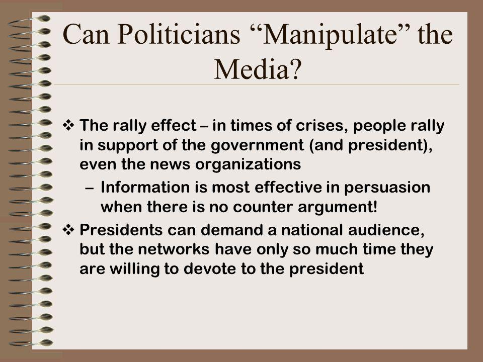 Can Politicians Manipulate the Media