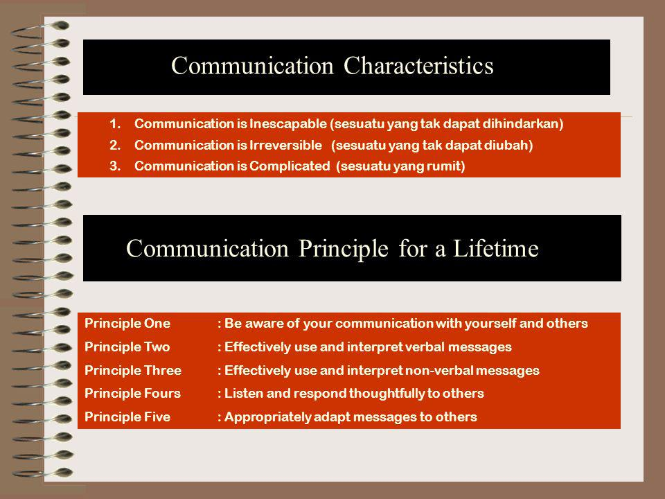 Communication Characteristics
