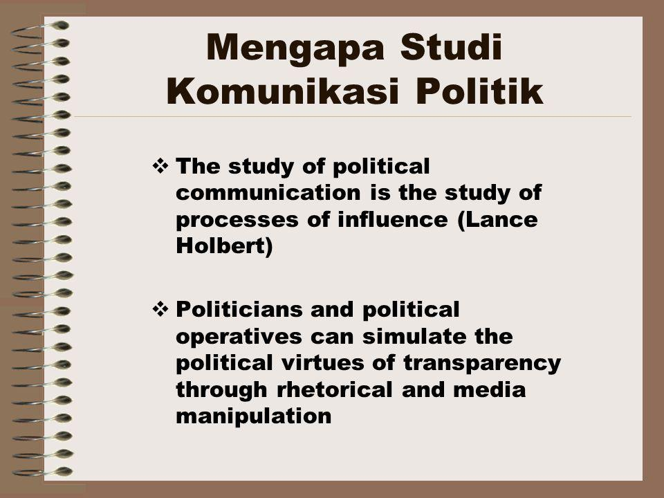 Mengapa Studi Komunikasi Politik