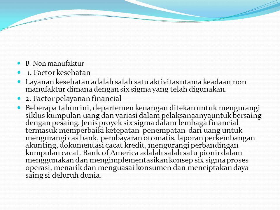 2. Factor pelayanan financial