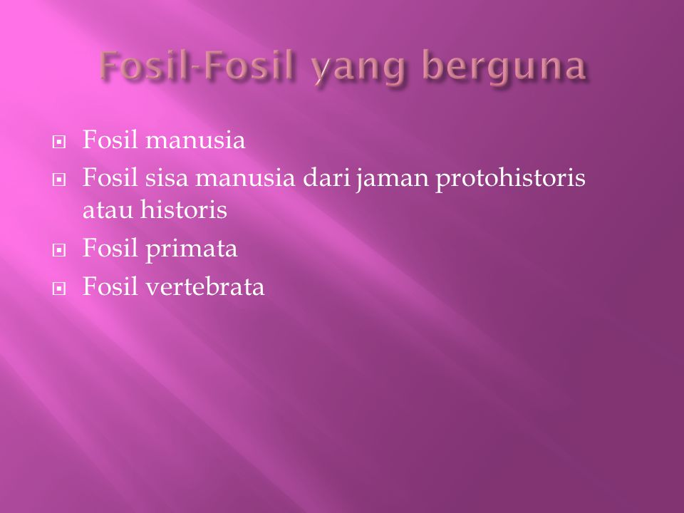 Fosil-Fosil yang berguna