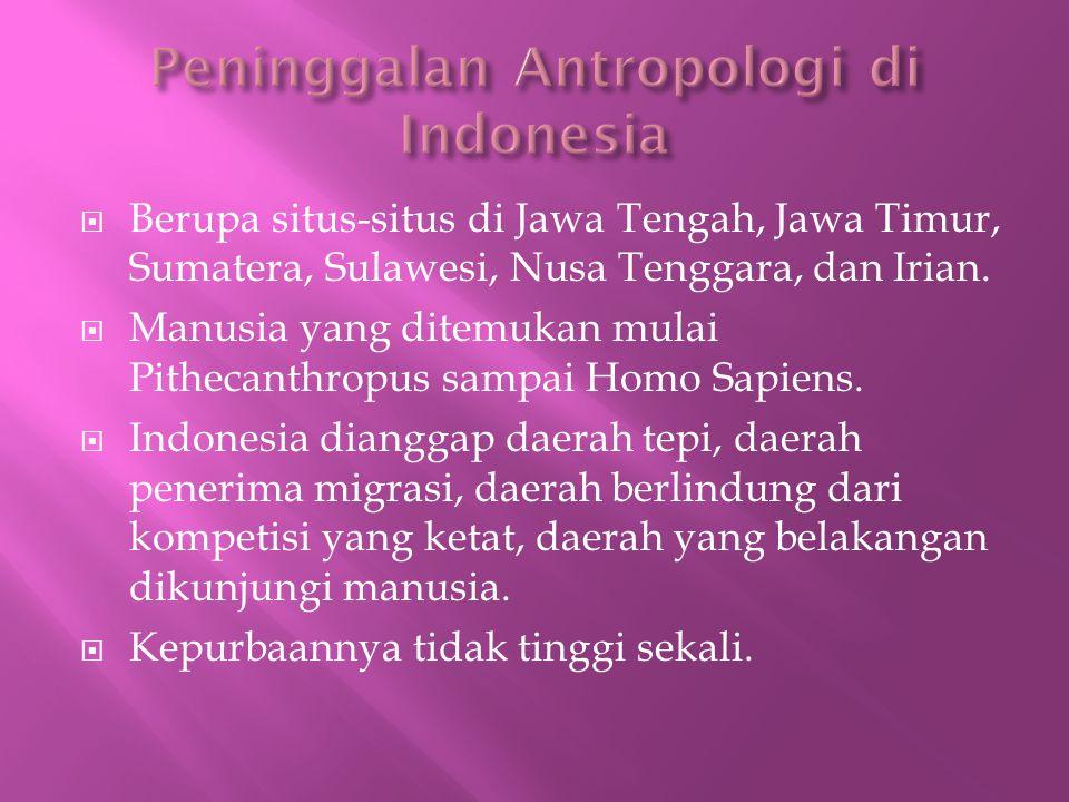 Peninggalan Antropologi di Indonesia