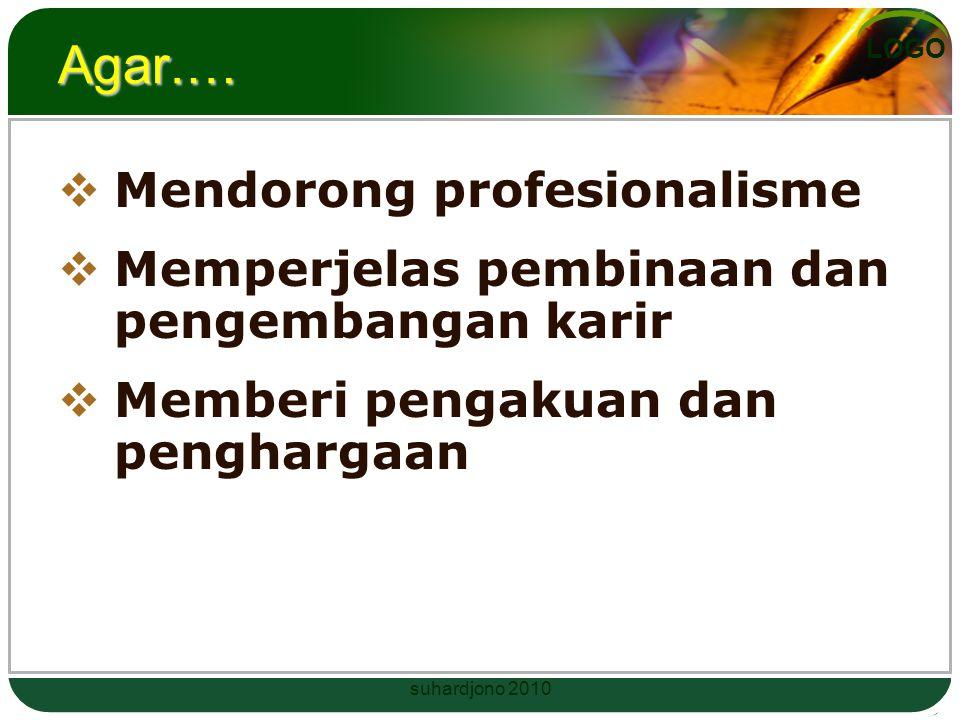 Agar.… Mendorong profesionalisme