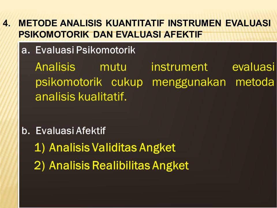 1) Analisis Validitas Angket 2) Analisis Realibilitas Angket