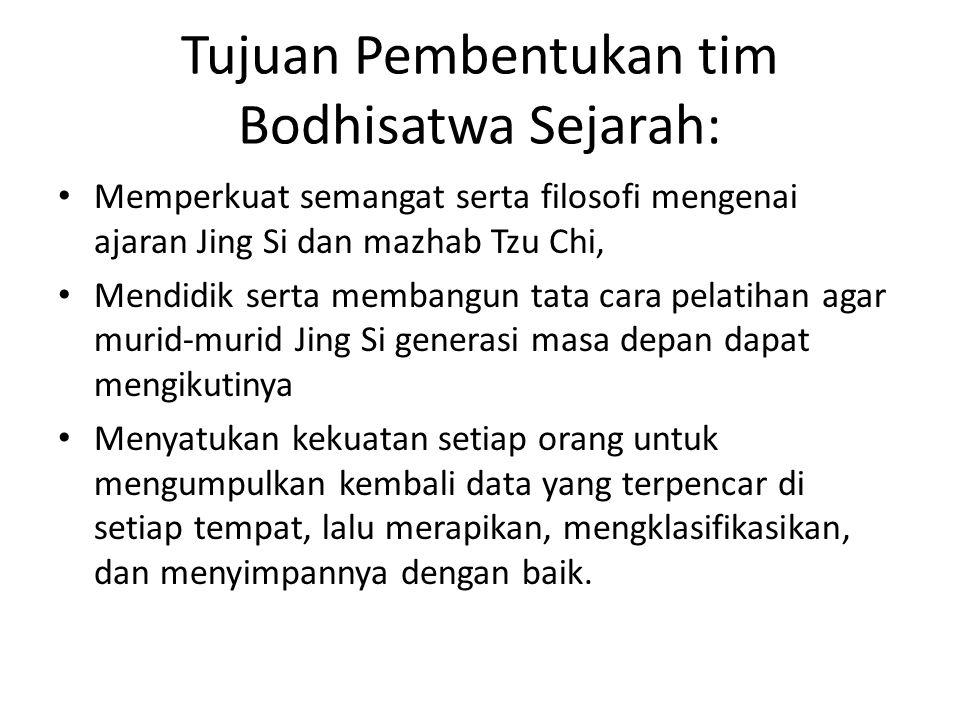 Tujuan Pembentukan tim Bodhisatwa Sejarah: