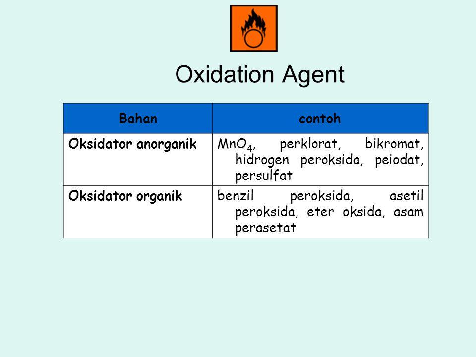 Oxidation Agent Bahan contoh Oksidator anorganik