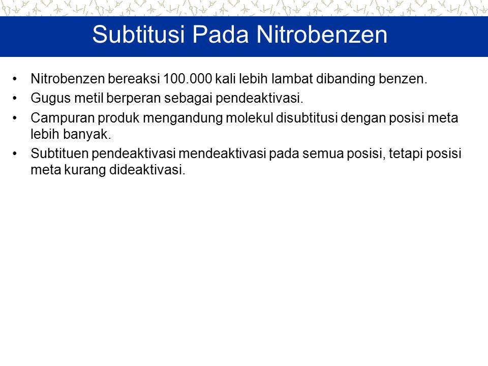 Subtitusi Pada Nitrobenzen