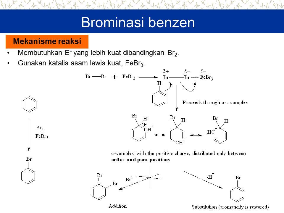 Brominasi benzen Mekanisme reaksi