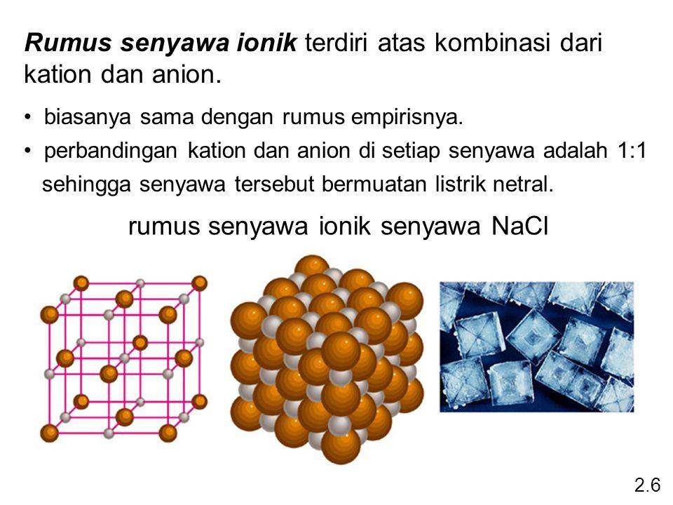 rumus senyawa ionik senyawa NaCl