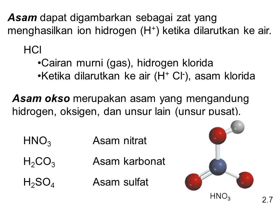 Asam dapat digambarkan sebagai zat yang