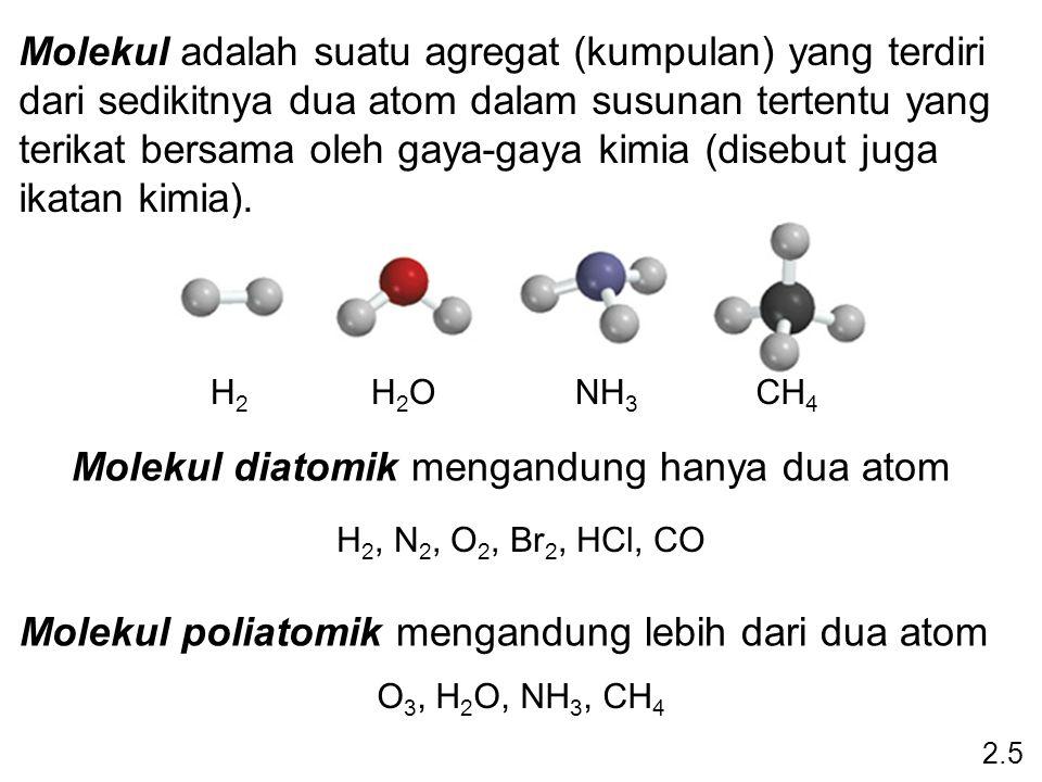 Molekul diatomik mengandung hanya dua atom