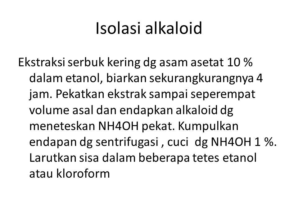 Isolasi alkaloid