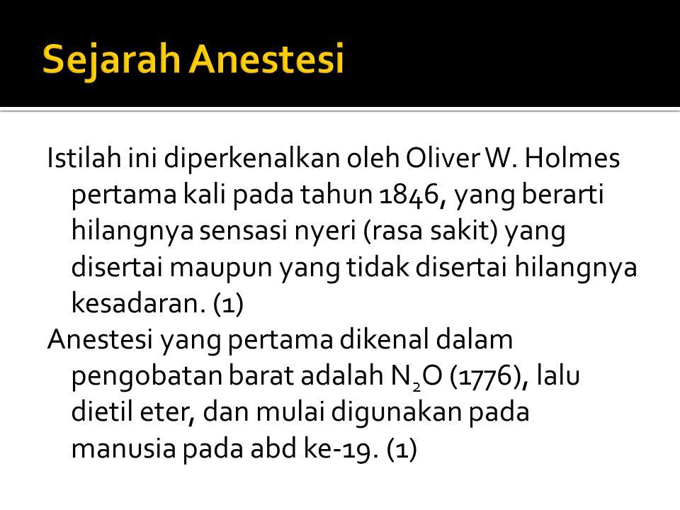 Sejarah Anestesi