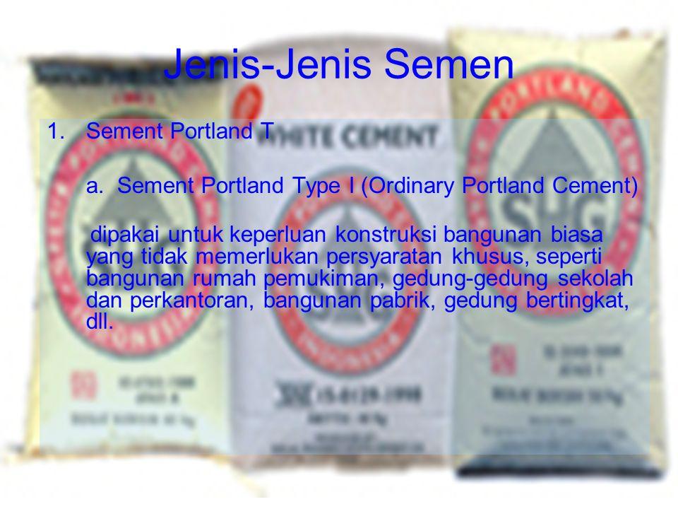 Jenis-Jenis Semen Sement Portland T