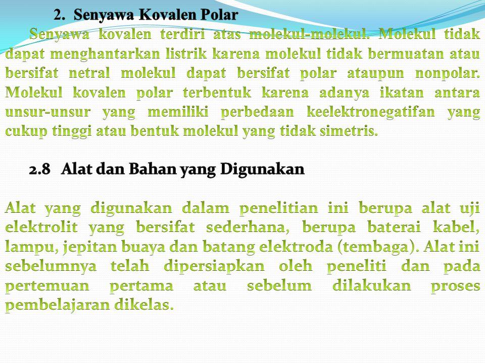 2. Senyawa Kovalen Polar