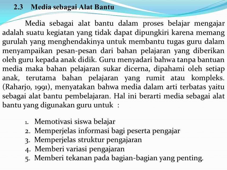 2.3 Media sebagai Alat Bantu