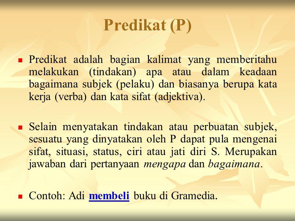 Predikat (P)