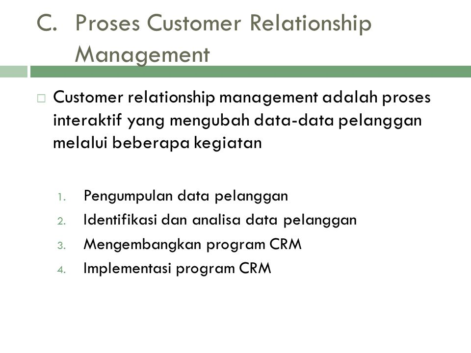 Proses Customer Relationship Management