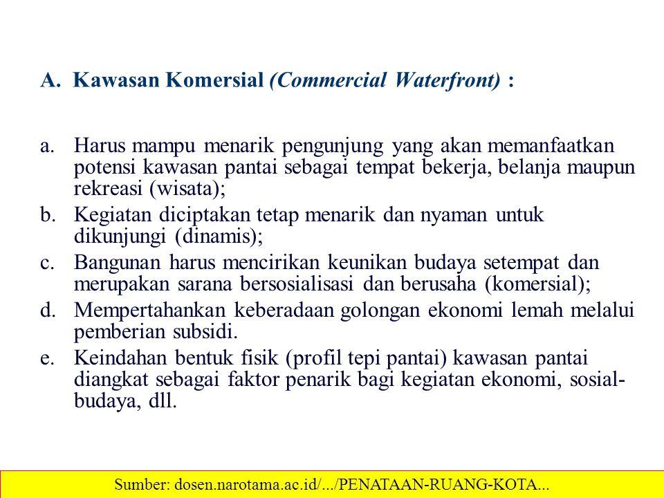 A. Kawasan Komersial (Commercial Waterfront) :