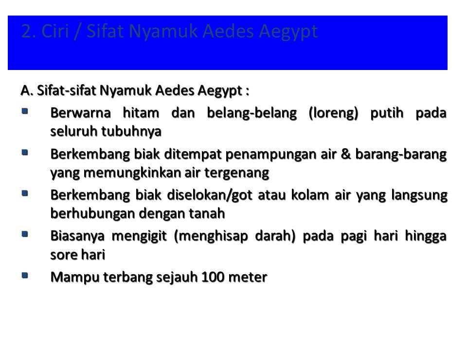 2. Ciri / Sifat Nyamuk Aedes Aegypt