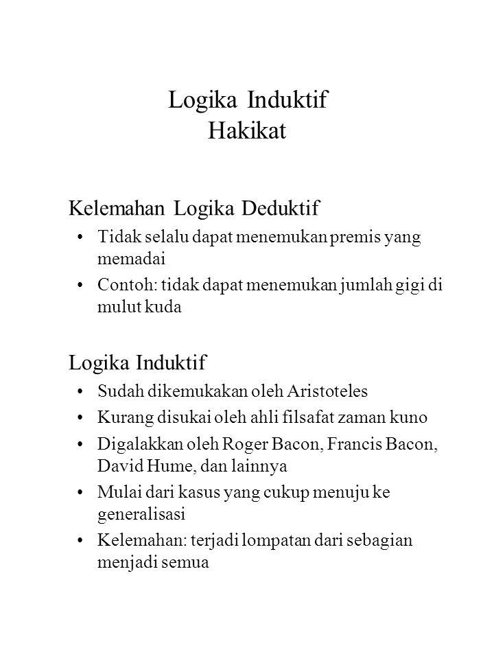 Logika Induktif Hakikat